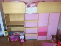 Kids high cabin bed £150