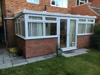 Conservatory 5m x 3m UPVC - polycarbonate roof - good condition