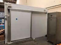 Walk in freezer with; heated floor and sliding doors, digital monitoring (Lot 134)