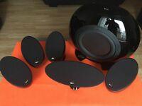 Home Cinema KEF KHT3005 BL (SE) 5.1 Home Cinema Speaker System (Gloss Black)