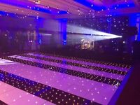 **PRO SERVICE ** NEW RGB - LED STAR LIT BLACK DANCEFLOOR OR WHITE LED DANCE FLOOR HIRE!