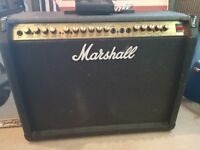 british made marshasll stereo chorus model 8240 valvestate s80 2x12 guitar amp with footswitch