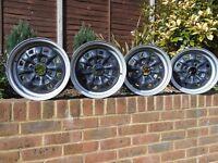 cortina/capri/escort mk2 ford steel wheels 5.5j 13inchx4 used