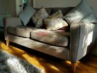 Retro Grey Sofa 3 X 1 X 1