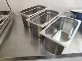 Vogue Gastronorm Pans 1/1 1/2 1/3 1/6 2/3 Stainless Steel