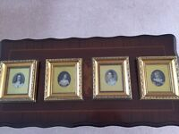Engravings, Original hand coloured, Four incl two attributed Sir WC Ross RA £65 for all Four.
