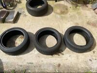 215/45ZR17 91W second hand tyres x3