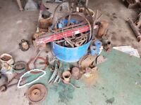 Vintage tractor and machinary parts.