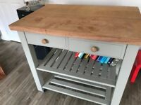 Eddingtons Lambourn 2 Drawer Butcher's Trolley, Grey.
