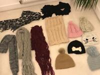 Job lot scarfs and hats