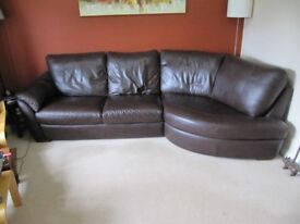Sofa Leather Chocolate brown Large (ikea Alvros)
