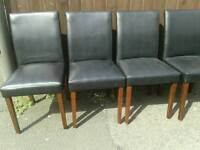 Set 4 high back chairs