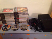 Playstation 2 PS2 with 30 games canis canem gta hitman cod call of duty tony hawk grand theft auto