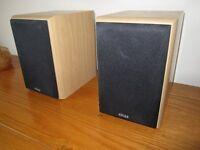 Eltax Wave mini hi fi speakers, pair.