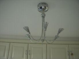 Light fitting - 6 bulbs metal mesh holders