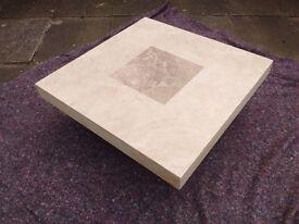 TRAVERTINE (MARBLE, STONE) COFFEE TABLE 100cm X 100cm x 33cm high