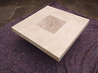 TRAVERTINE (MARBLE, STONE) COFFEE TABLE 100cm X 100cm x 33cm high