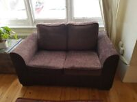 Brown 2 seater sofa in excellent condition