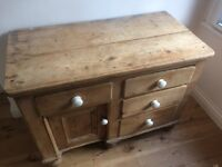 Rustic farmhouse style, wooden chest of drawers