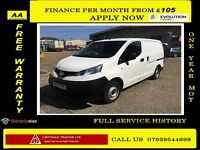 Bargain Sale!!Nissan NV200 1.5 dCi SE - 1 Owner- FSH- 1 YR MOT- Rear Camara , Elec Mirrors / Windows