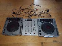 2x CDJ 800 mk1 & 1x Behringer DX626 Mixer