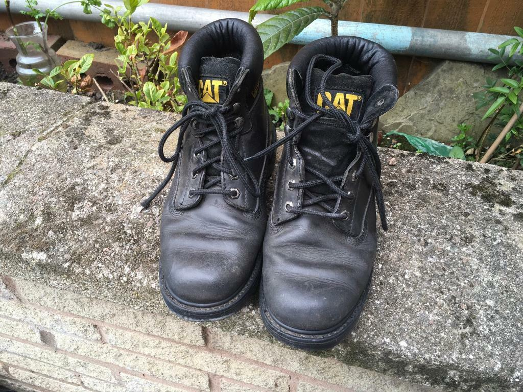 63ec4d8cf409 Caterpillar men s safety work boots leather size 7.5 used v.good condition  £10