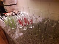 A variety of water and wine glasses (as a bundle or as singles)