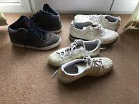 Adidas and Nike high top trainers