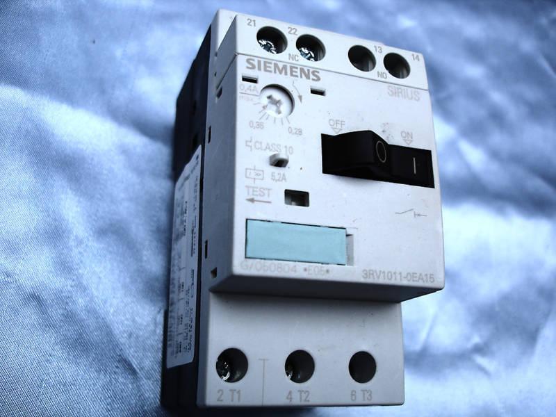 Siemens  Motor Starter  model  3RV1011-OEA15  for motors   0.28 - 0.4 Amp range