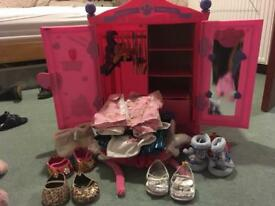 Build A Bear wardrobe, outfits, shoes & beds