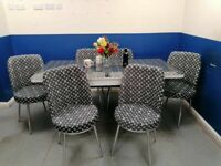 👌👌 NEVER BEFORE SALE 😍💕ON LOUIS VUITTON EXTENDABLE DINING TABLE AND 6 CHAIRS