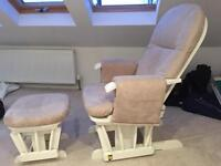 Tutti Bambini Glider Nursing Chair & Stool