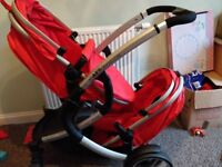 double pram in good condition