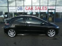 2008 08 HONDA CIVIC 2.0 I-VTEC TYPE-R GT 3D 198 BHP **** GUARANTEED FINANCE **** PART EX WEL