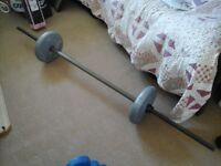 Great condition barbell, total weight 13kg