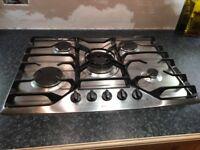 De Dietrich 5 burner hob with wok burner .