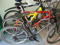all these bikes 26 inch wheel only £65 each ( fully roadworthy )