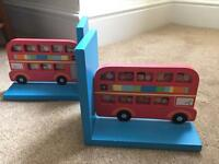Red bus bookends - Sass and Belle