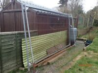 Three Used Heras Fencing Panels