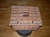 fishing creel/ basket/ toys/logs w.h.y.
