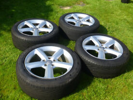 """AUDI Q7 20"""" Alloy Wheels (4) with (4) Almost New GOOD-YEAR Tyres"""