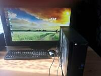 """ACER XC 703 with AOC 27"""" LED monitor - used - mint condition"""