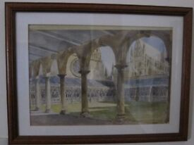 Original Watercolour of Lincoln cathedral