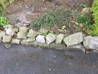 Garden rocks and stones - free to collector