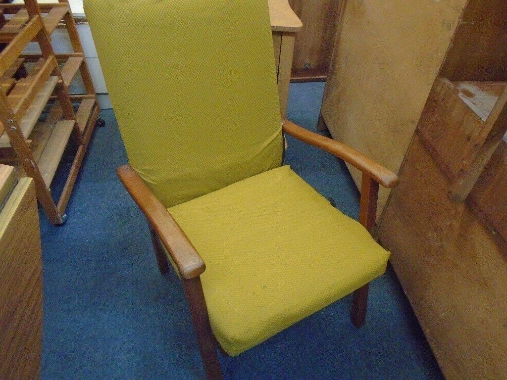 vintage sprung seat arm chair