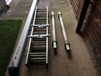 RHINO TUBE 3 TRIE LADDERS BRAND NEW LADDERS CLAMS AND ROOF RACK