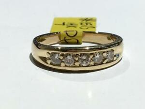 #1513 14K YELLOW GOLD LADIES DIAMOND WEDDING BAND *SIZE 7* JUST BACK FROM APPRAISAL AT $2150.00 SELLING FOR $725.00!