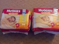 Newborn Huggies 2 packs