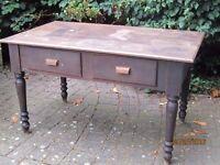 Lovely Antique Yellow Pine Desk/Table - Primitive - circa 1890