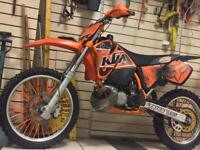 KTM 200 EXC 99 FULL REBUILT HONDA CG125 ON ROAD OFF ROAD 125 MX FIELD DIRT CROSSERS MOTOX L